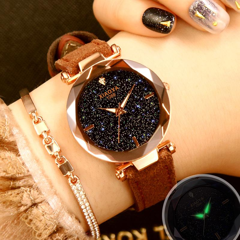 Jam tangan wanita wanita Tahan Air modis 2018 model baru murid Versi Korea minimalis Retro Tren