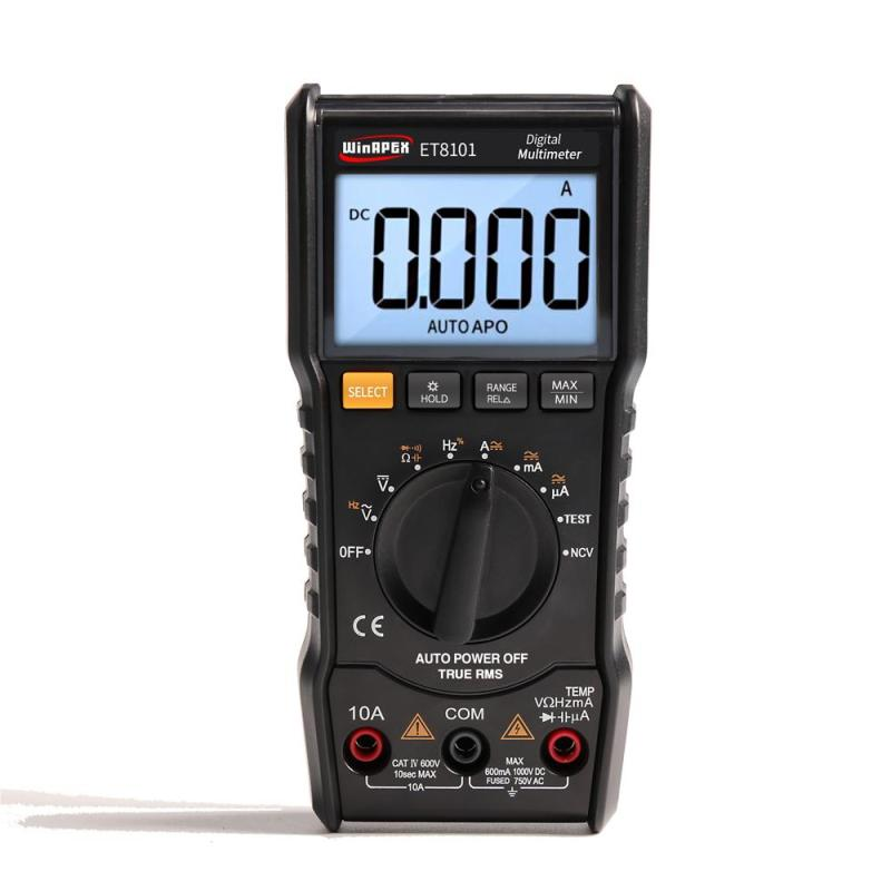 Digital Multimeter Tester 3 5/6 Mini Multimeter AC DC 6000 True RMS Digital Voltmeter 1000V 10A multi meter Pocket Multimeter - intl