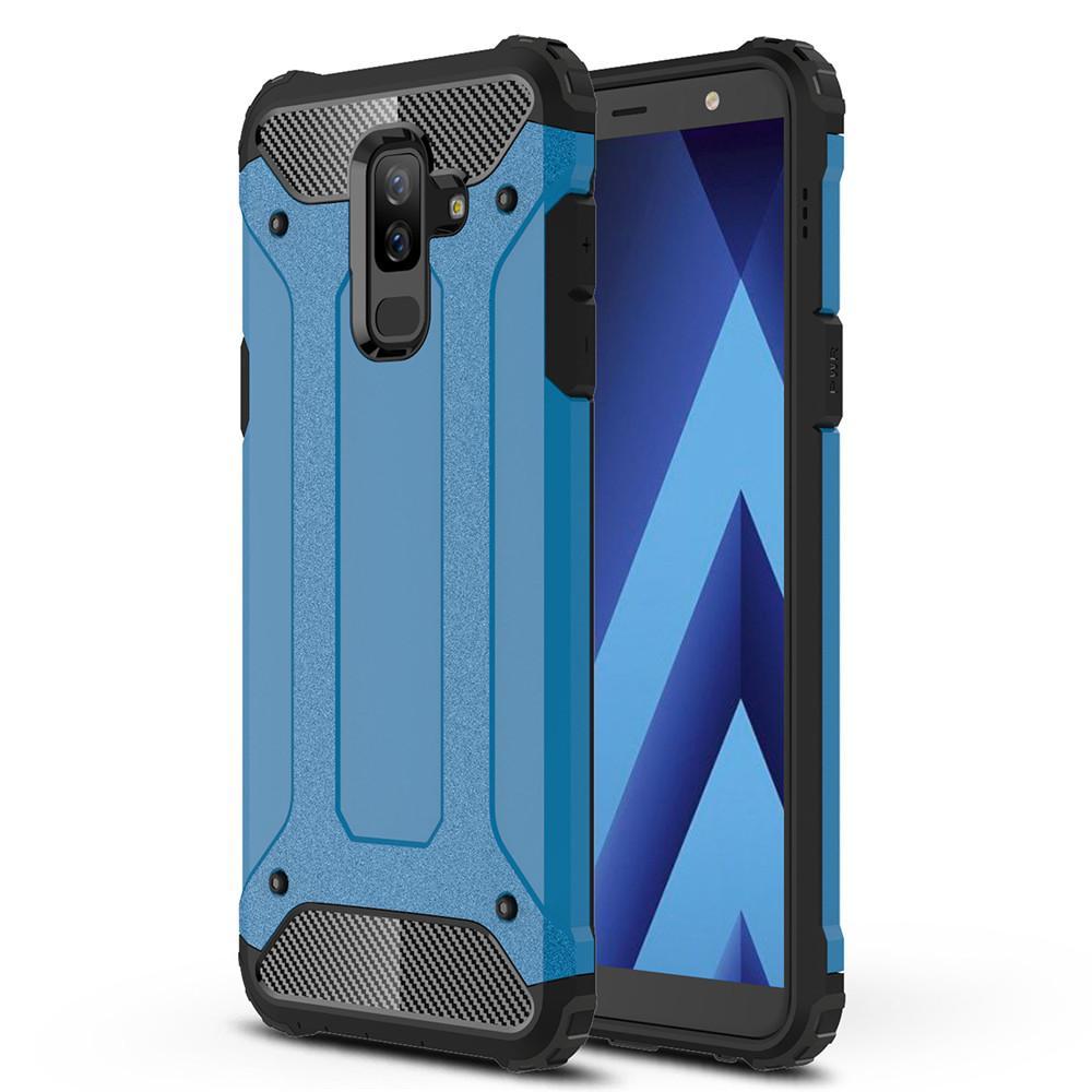 Lenuo Case for Samsung Galaxy A6 Plus A6+ 2018 Hybrid Shell Armor Rugged TPU + Hard