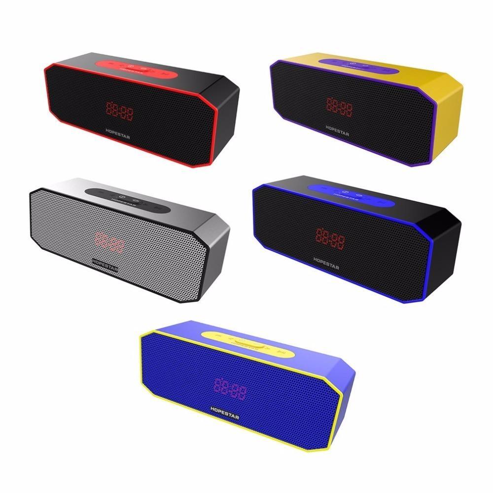 66a768867a8 HOPESTAR P8 Portable Wireless Bluetooth Speaker TF Card Music Player Power  Bank Support 1+1