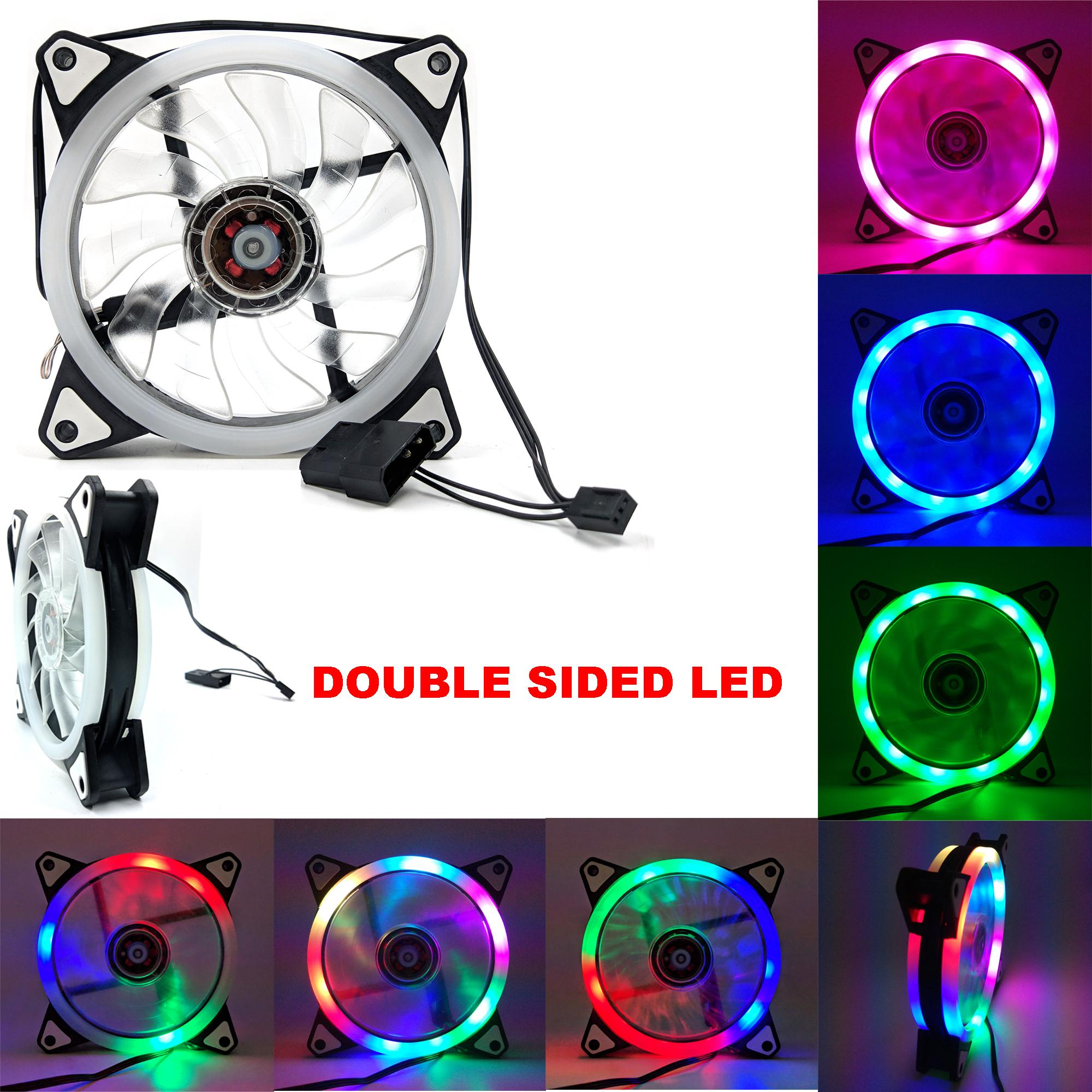 120mm Double Sided Rgb Running Led Cooling Fan 366 Automatic Switching Modes By Jungletec.