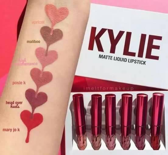 Authentic Kylie Valentine Edition 6pcs. Lipcream Set Philippines