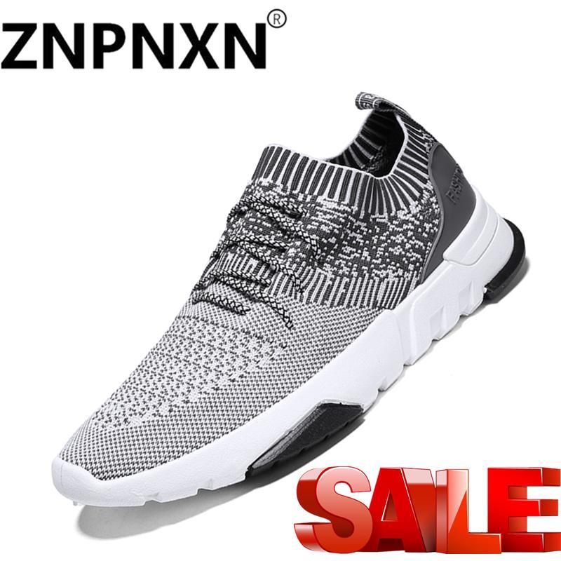 Znpnxn Sepatu Lari Jala Olahraga Luar Ruangan Bernapas Jogging Sneaker  Bahan untuk Sepatu Santai Pria- 7dd210192c