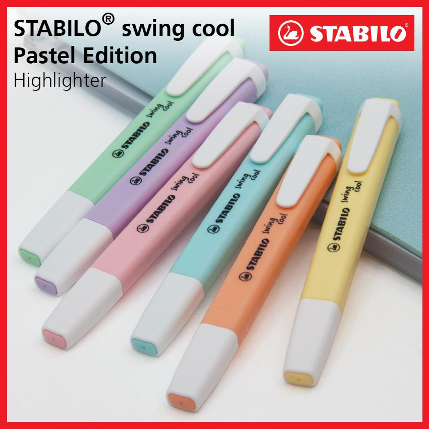 Stabilo Swing Cool Pastel Highlighter Pen & Text Marker With Pocket Clip (6 Colors) By Stabilo Philippines.