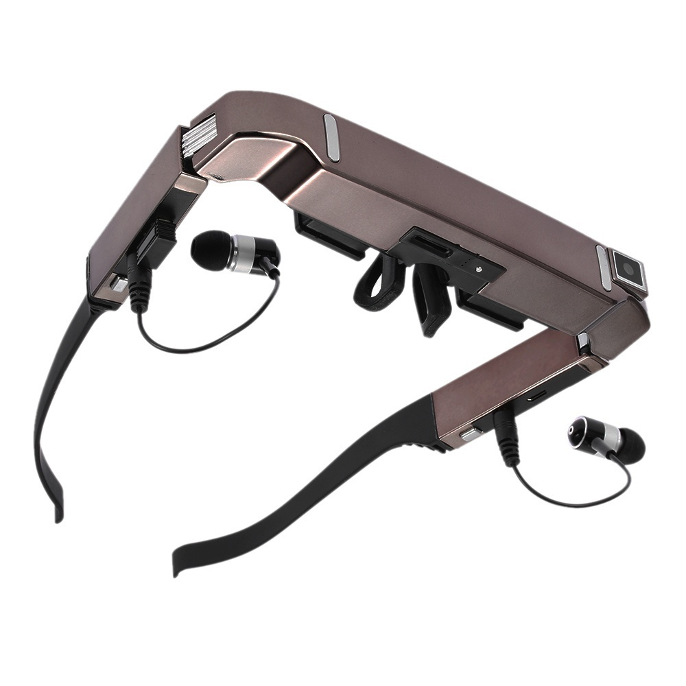 VISION-800 Smart Android WiFi Glasses 80 Inch Virtual Wide Screen Video  Glasses Portable 3D Glasses Private Theater with 5MP HD Camera Bluetooth  4 0