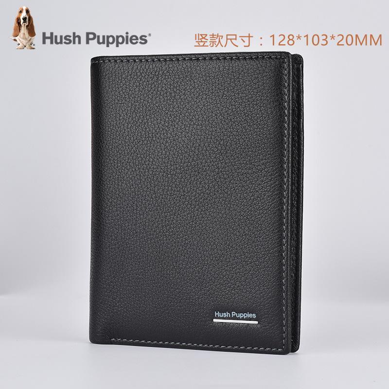 Rak konter khusus Produk Asli  Hush Puppies model baru pria dompet model  pendek Kulit 12354775a2