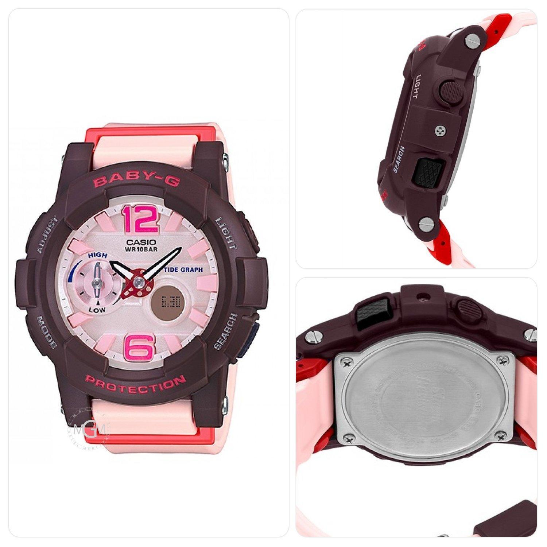 Brand New Casio Baby G Shock Black Womens Sports Watch Bga 180 3b 210 7b3 Brown Pink Oem Resin Strap Resistant Ladies Sport