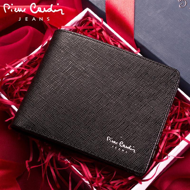 ... Pierre Cardin Dompet Pria model pendek Kulit asli Produk Asli Model  silang anak muda dompet Lapisan ... 23c8013aa1