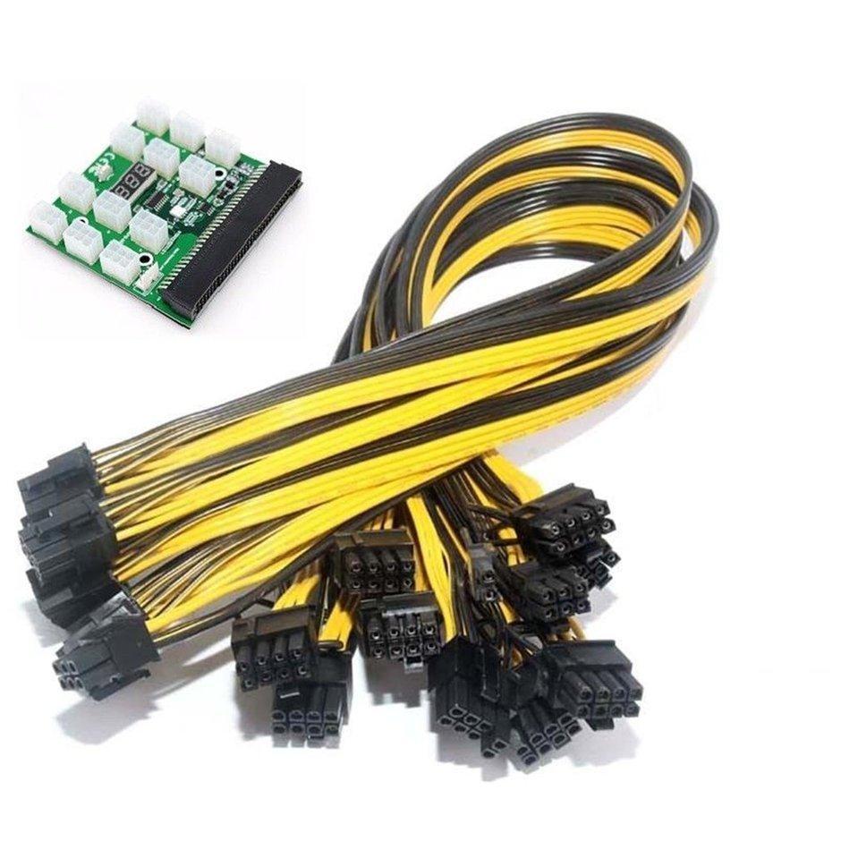 1 PC 6Pin Server Konverter Daya Papan + 12 Pcs 50 Cm 6 + 2 Pin