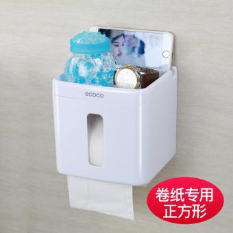 Pencari Harga Dapur Kamar mandi toilet rak tisu Tidak Perlu Melubangi Kertas gulung Tisu WC kotak tisu lap tangan Tabung kertas Tahan Air Tempelan Model ...