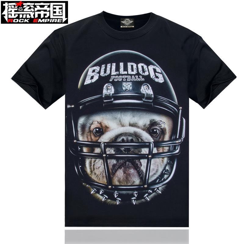 Rock Empery 3D Gaya Jepang Dicetak Baseball Anjing Kaus (Helm Anjing)