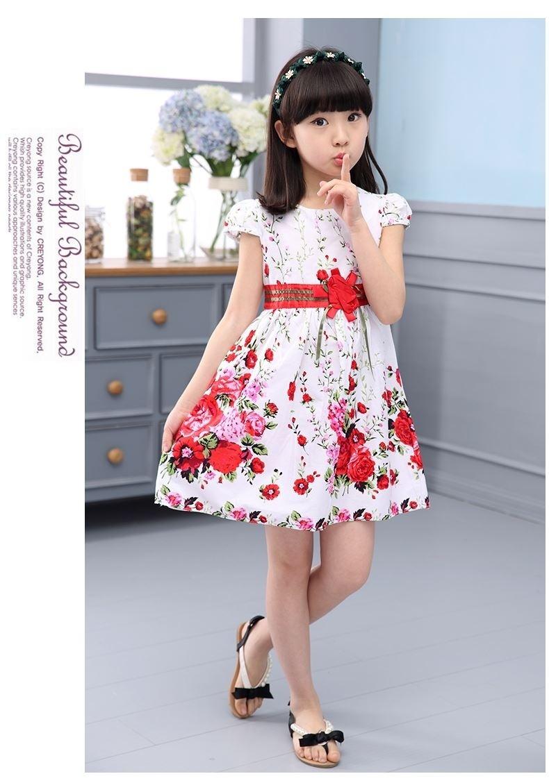 e21afee9e7 Princess Party Dresses For Girls Wedding Dresses Floral Print Kids Prom  Dresses Summer Children Sundress 2 3 4 6 8 9 10 12 Years - intl