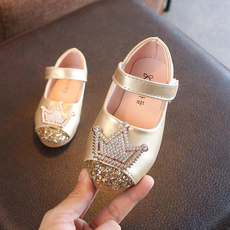 Anak prempuan Sepatu Kulit 2018 Musim Semi dan Musim Gugur model baru Gaya  Korea DANISA batu 19ebb81e54