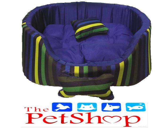 395de6e3a3 Pet Dog Cat Bed 49 Blue w/ YBGB Stripes (Medium) L43xW33xH16cm w/