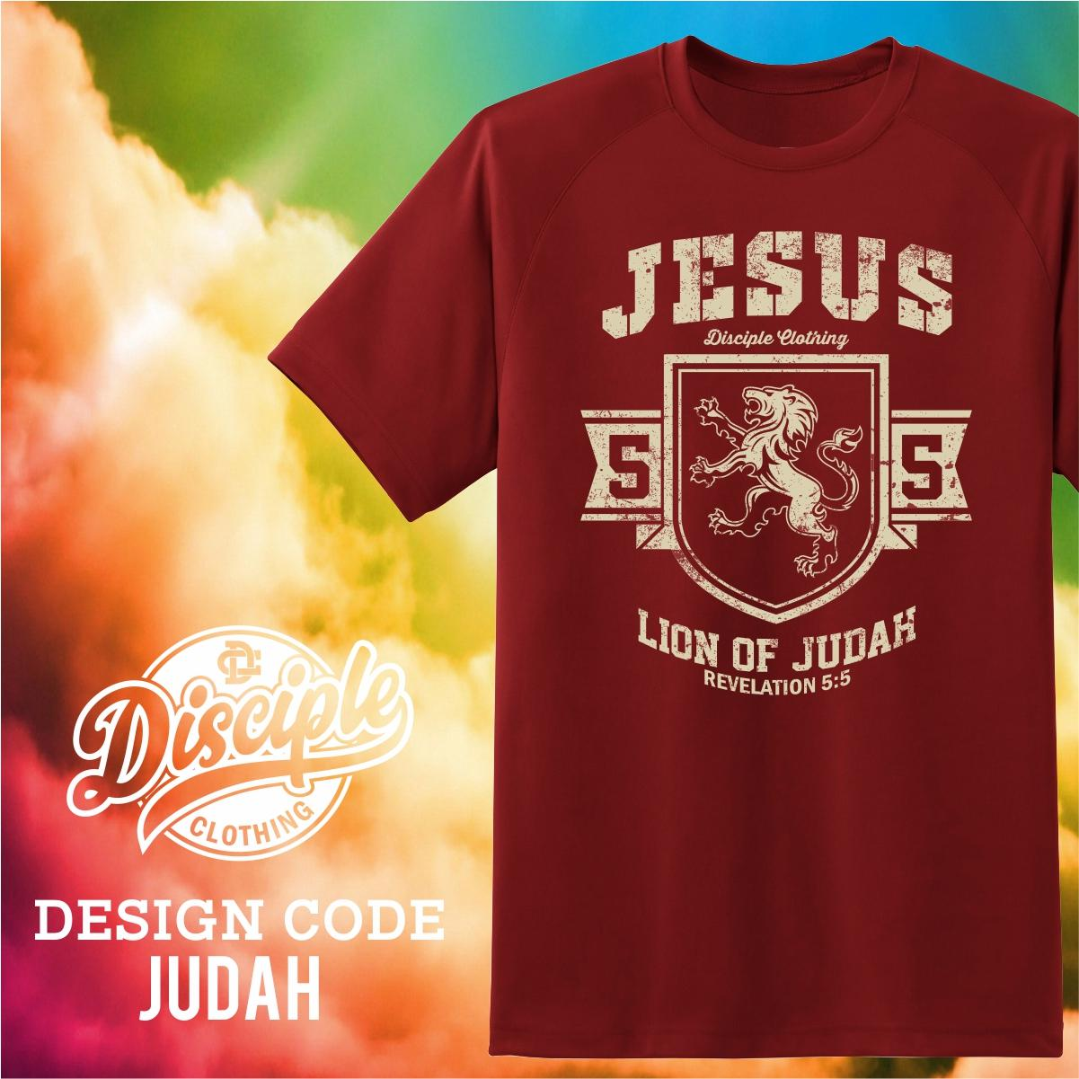 79b5a7c4a24 Disciple Clothing Christian Inspirational Jesus Lion of Judah Shirt