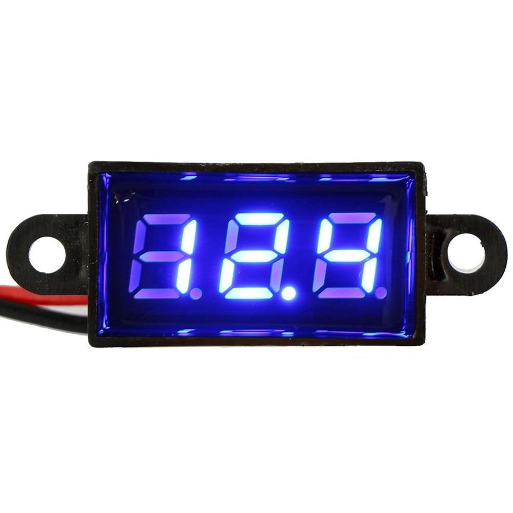 Micro Voltmeter 350 300v Digital Voltage Panel Meter Dc 12v 028 Motorcycle Battery Monitor 1 Min