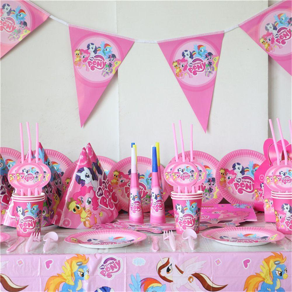 Little Pony COMPLETE Party Set 90 PCS