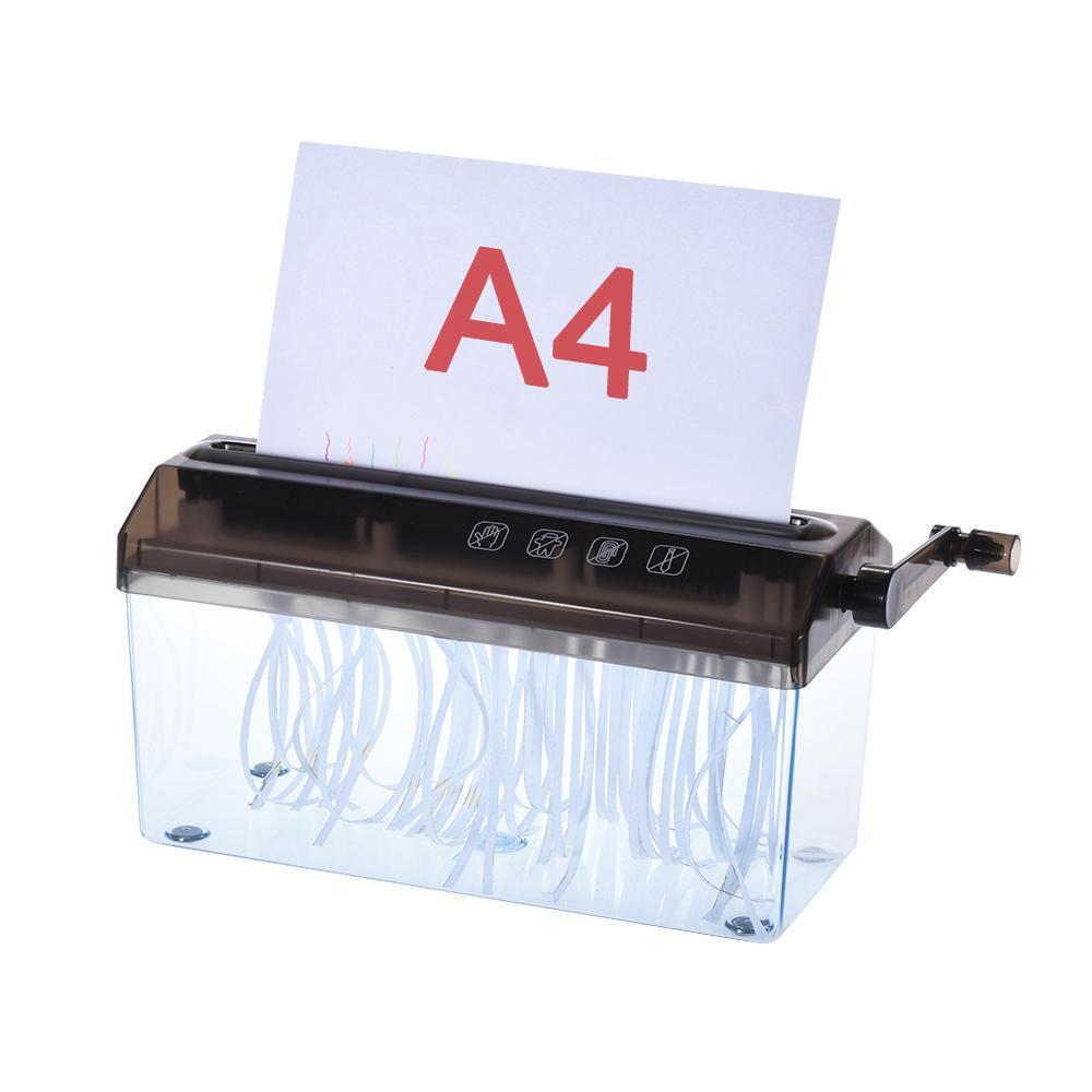Mua A4 9 Shredder Paper Office Shredder Mini Paper Shredder Manual Hand Paper Shredders Document File Straight Cutting Machine,Black - intl