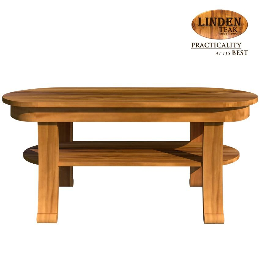 Linden Teak Handcrafted Solid Teak Wood Chantik Accent Center Table  Furniture (Gold Teak Series Indoor ...
