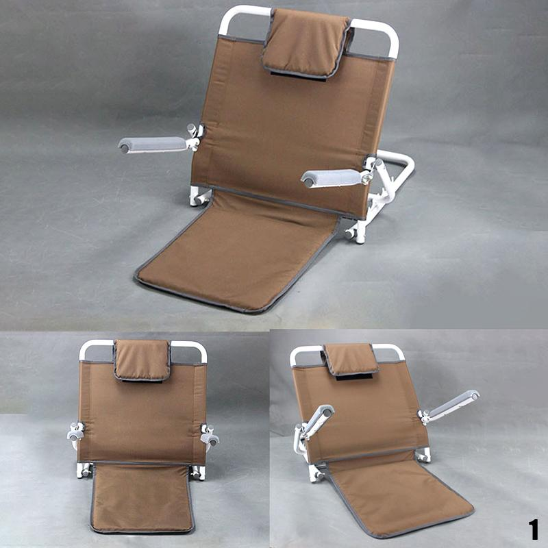 Foldable on Bed Backrest Support Stand Frame Chair Healthcare Adjustable Angle Back Rest Support for Bed Multiple Adjustable Angle Back Support Bed Rest Help User Sit Up Comfortably Wedges & Bed Positioners