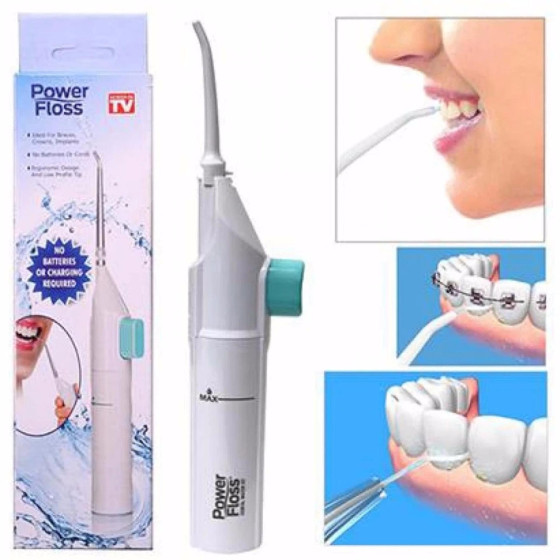Portable Power Floss Dental Water Jet Tooth Pick No Batteries Dental Cleaning Whitening Cleaner By Dgm.