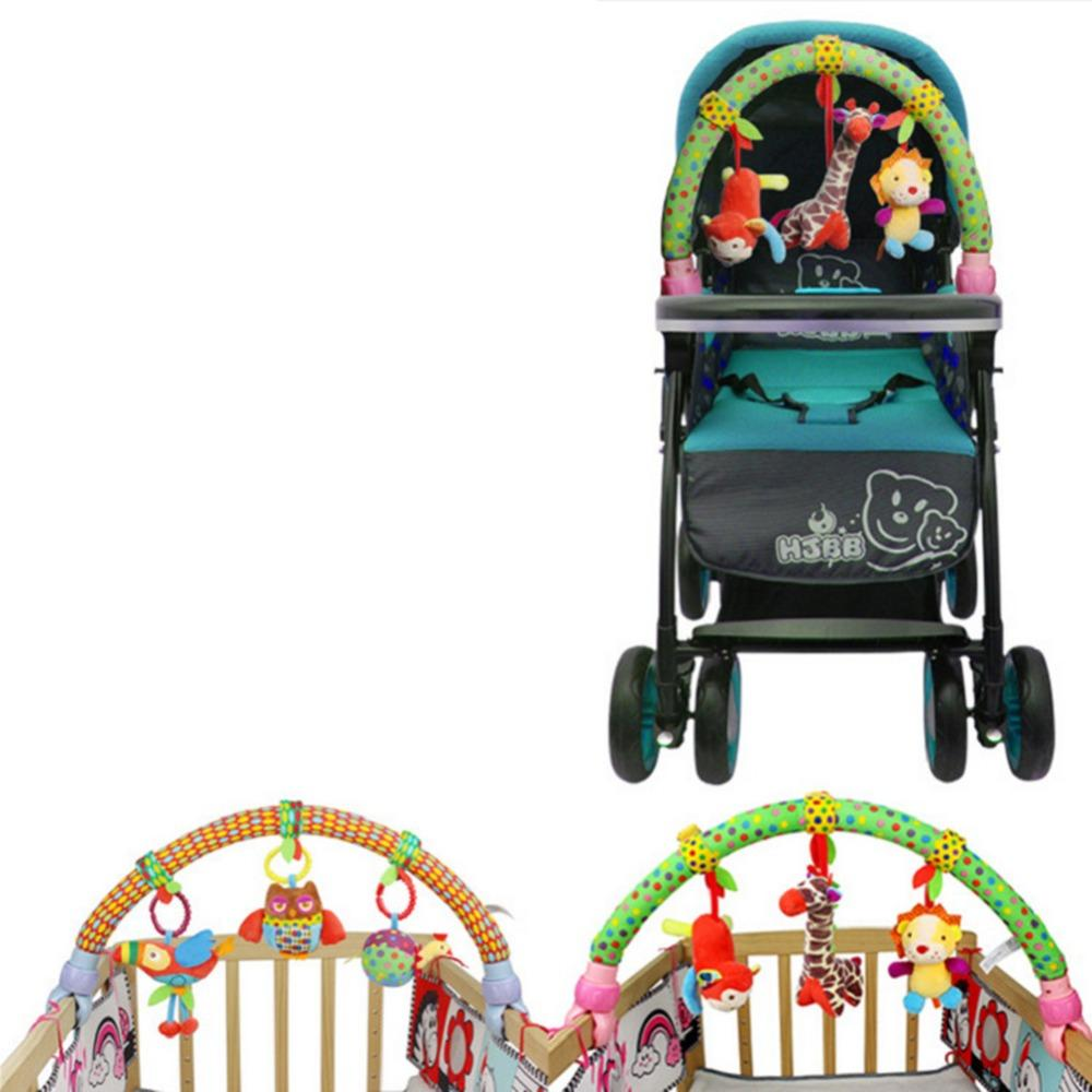 Mq Cute Forest Cloth Animal Birds Toys Baby Travel Play Arch Activity Bar For Stroller Pram Crib By Mfqq Fashion.