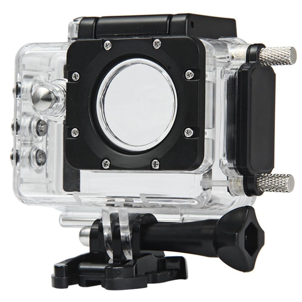 SJCAM Túi chống nước Nhà Ở cho SJ5000/SJ5000 Wifi/SJ5000 Plus Camera Hành Động Xe Máy Sử Dụng Màu Đen