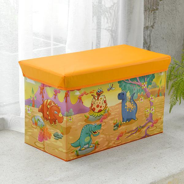 Clean Let the Creative Large Size Storage Stool Can Sit Adult Children Folding Household Multi-functional Storage Box