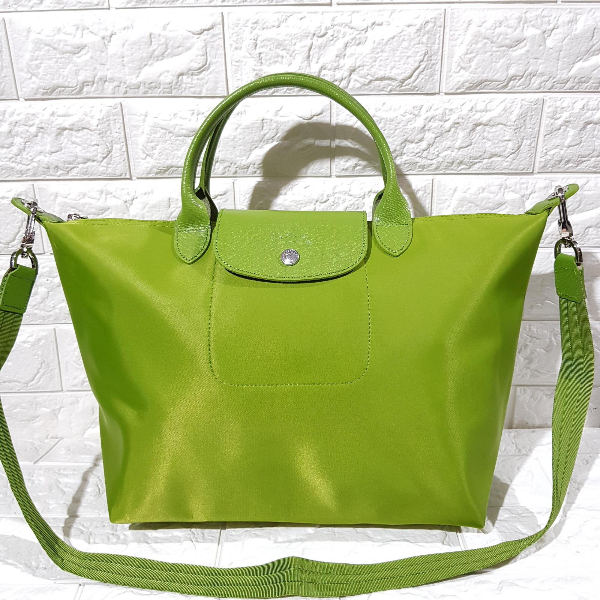 Medium Apple Green Longchamp Neo Made In France Philippines Lc006 Le Pliage Large Long Handle Llh