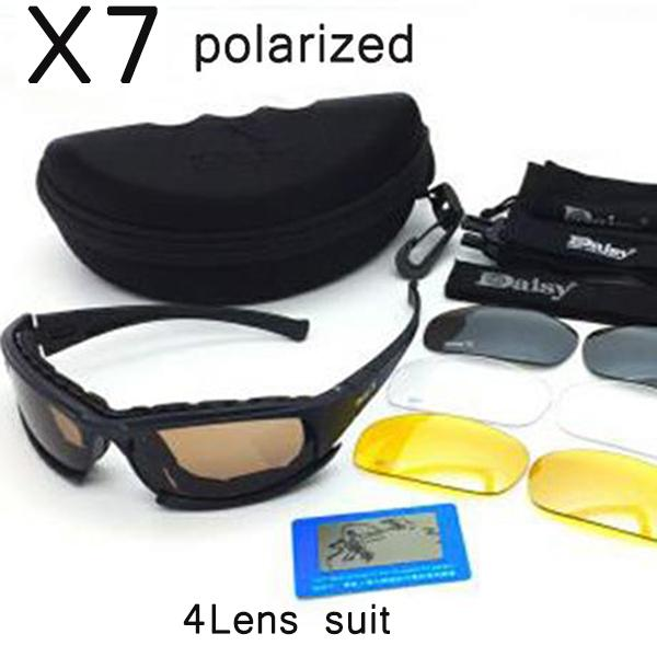3560bb60903 Daisy X7 Daisy Bulletproof Goggles military UV400 polarized sunglasses  glasses 4 lens. Shooting game Tactical