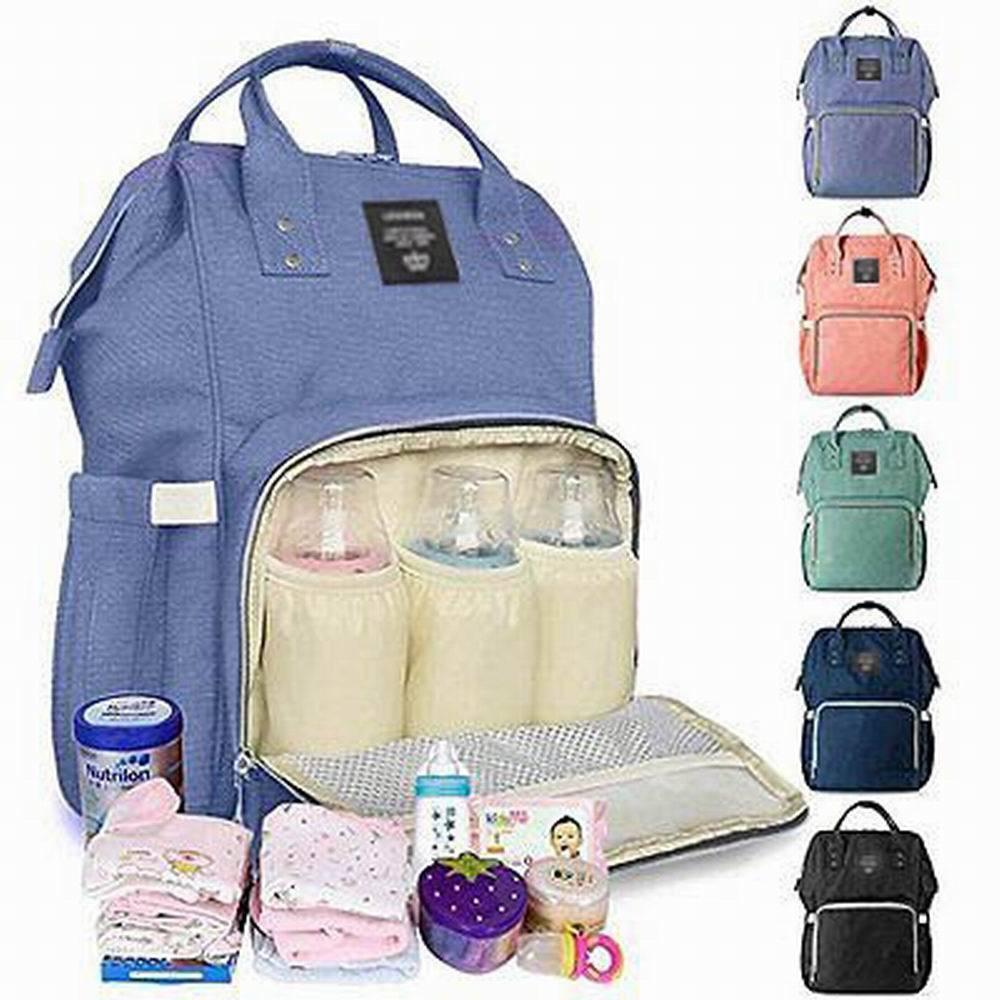 Mommy Bag Backpack Large Capacity Nappy Bag Waterproof Diaper Backpack Multipurpose Travel Bag