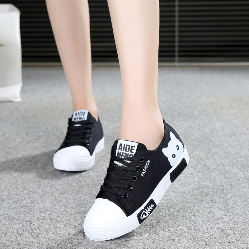 ... 2019 musim gugur model baru rendah kanvas sepatu wanita sol datar anak-anak sepatu sneaker ...