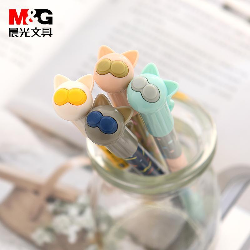 ... Jelas membuat M&G Stationery Imut Pena tebal sedang 0 38 hitam refill pena cair murid Pena