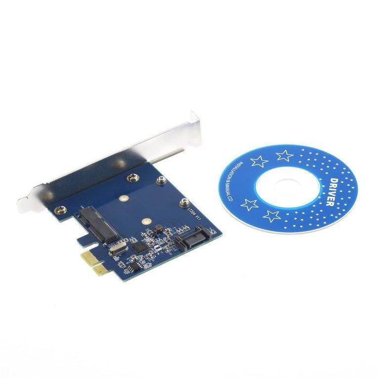PCI-E PCIe to mSATA SSD+SATA3.0 Combo Extender Adapter PCI-E toSATAIII Card