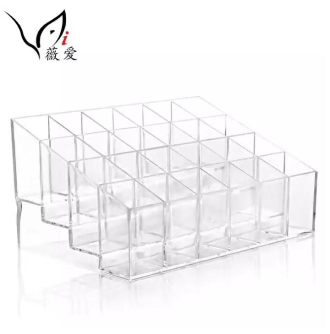 Clear Acrylic Cosmetic Makeup Storage Organizer Box Lipstick Stand Holder Display Rack Make up Philippines