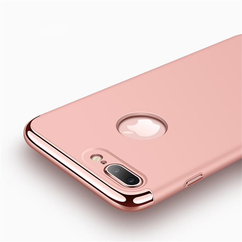 Detail Gambar IPhone 8 Plus Mewah Menyepuh Dgn Listrik Shockproof Kembali Casing Kover untuk IPhone8 Plus Case Keras Rumahan Telepon Terbaru