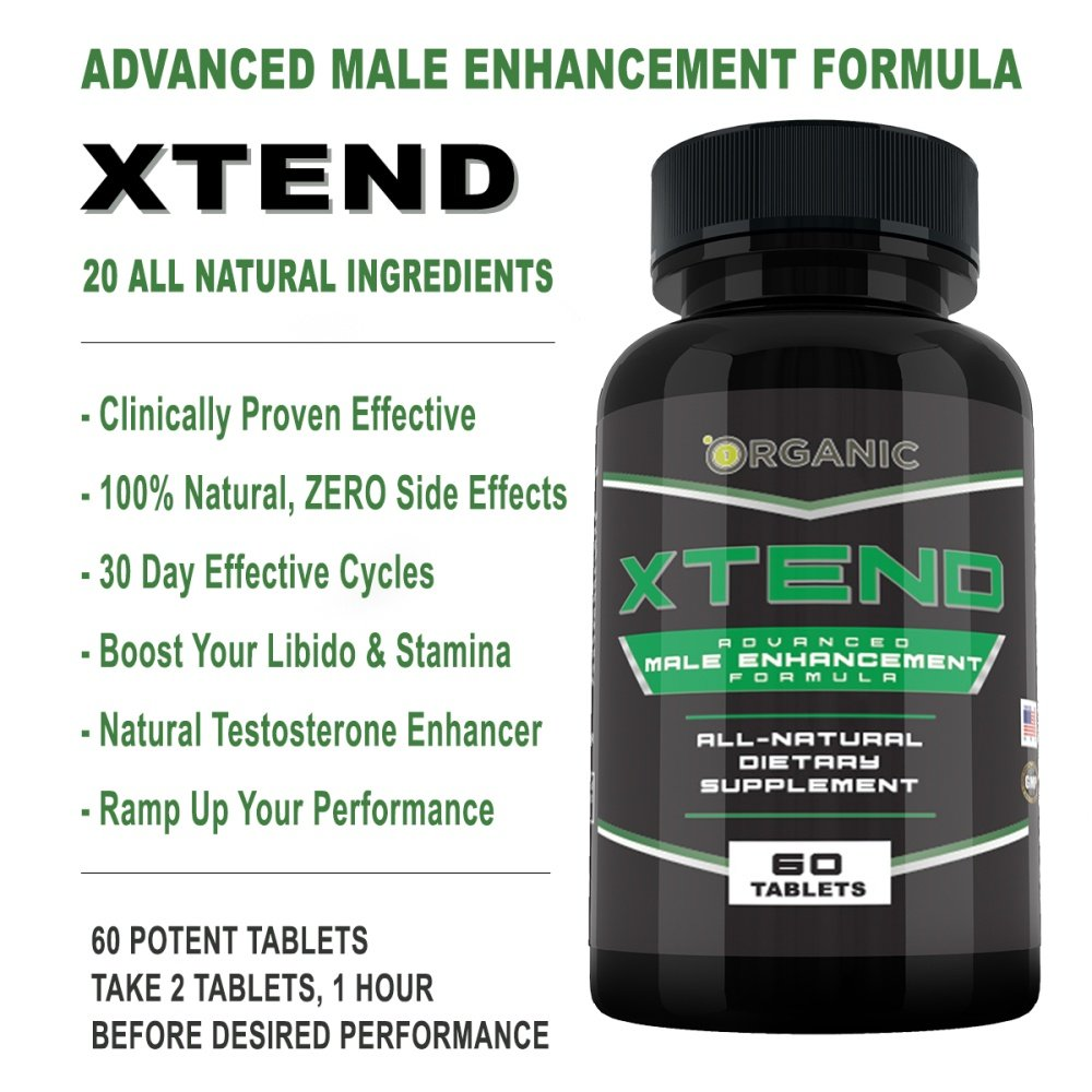 Xtend Male Enhancement Formula 60 Caps Boost Stamina And