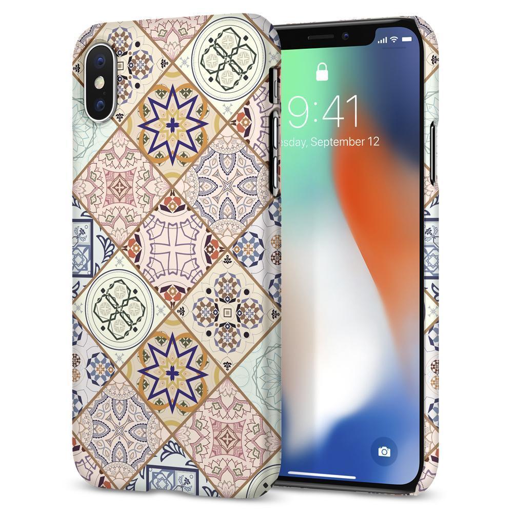 Buy Sell Cheapest Spigen Iphone X Best Quality Product Deals Case Classic One Aluminium Original Gray Thin Fit Arabesque