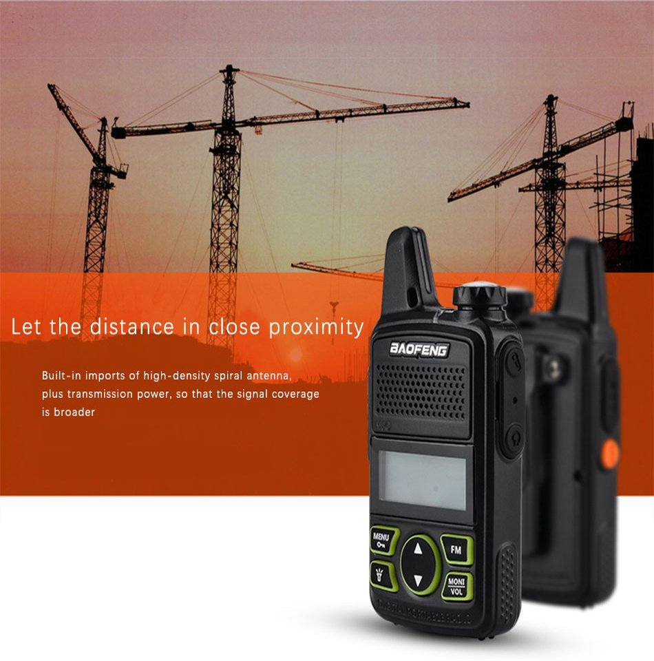 Baofeng BF-T1 Portable Mini Walkie-Talkie Two-Way Radio
