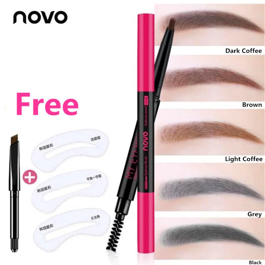 Korea NOVO Automatic Rotating Double Head Eyebrow Pencil Set #5120 Philippines