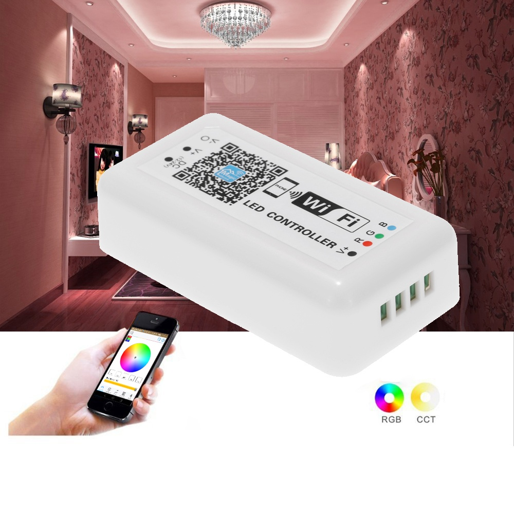 12V-24V LED RGB WiFi Controller for Strip Light 5050/3538 RGB LED Light /  Bulb 3 Channels Smartphone for iOS/ for Android APP Control with