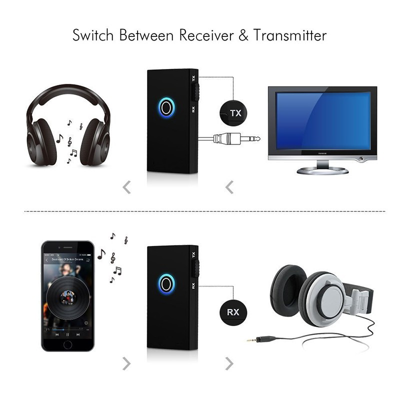 Mini Portable 35mm 2 In 1 Wireless Bluetooth Transmitter And