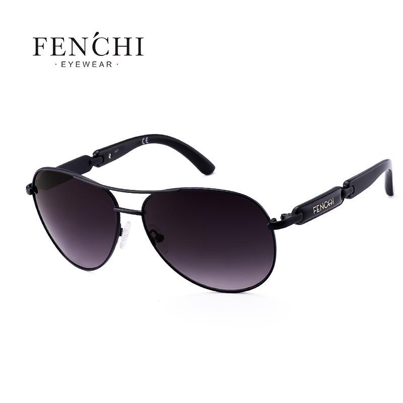 FENCHI 2018 kacamata logam mengemudi percontohan cermin desain fashion baru  kacamata aviator wanita kualitas tinggi Oculos 415d3c6e1c