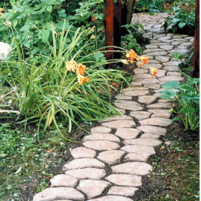Driveway Paving Pavement Mold Patio Concrete Stepping Stone Path   How To Make  Patio Stone Molds