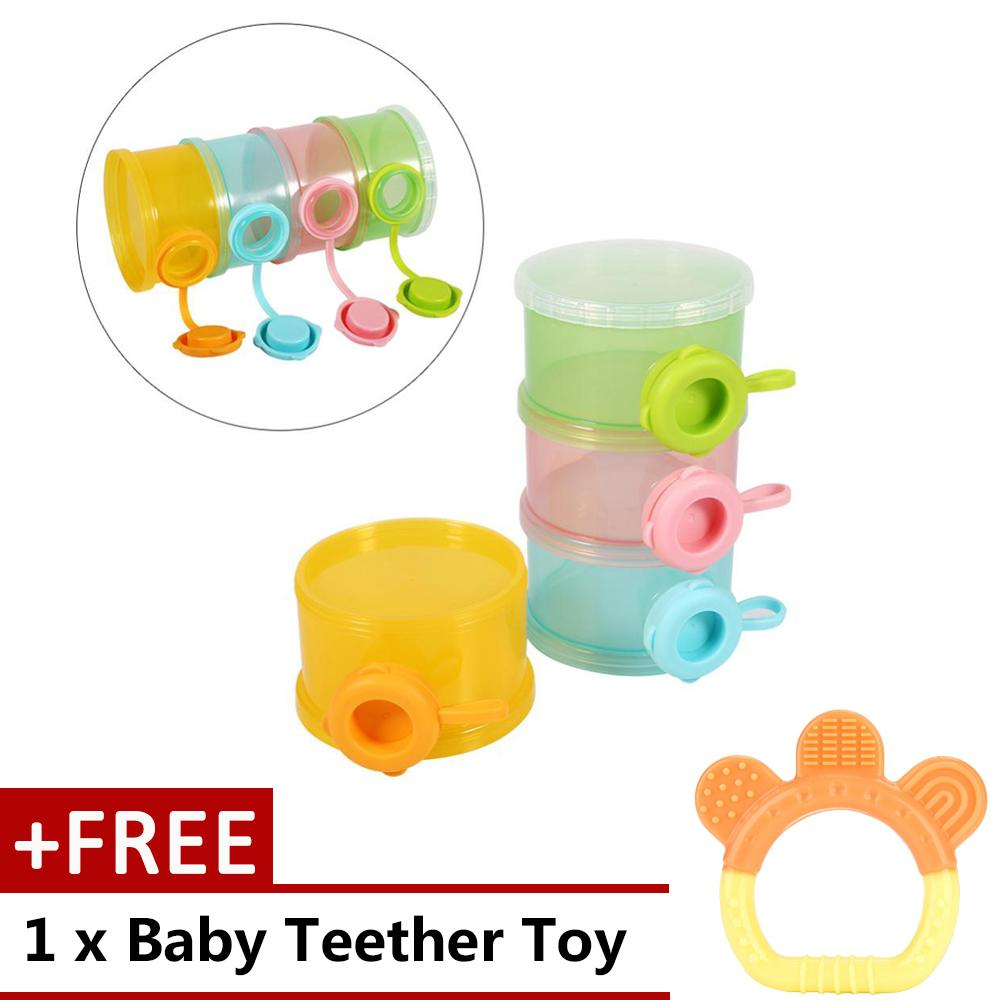 4 Layers Portable Infant Baby Milk Powder Formula Dispenser Feeding Storage Case Box Container - intl