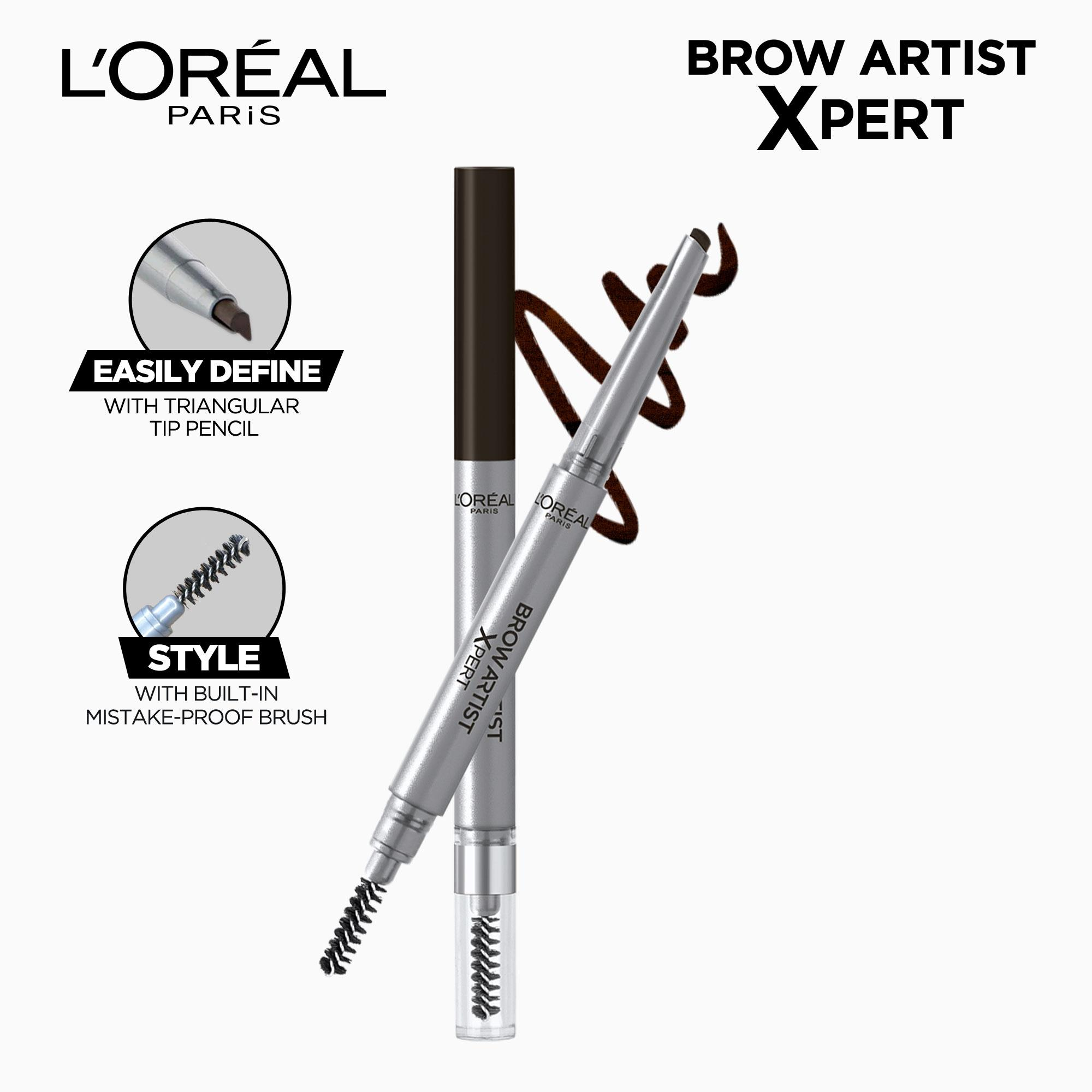 Brow Artist Xpert 2-in-1 Brow Pencil- 109 Ebony by LOréal Paris Brow Artist Philippines