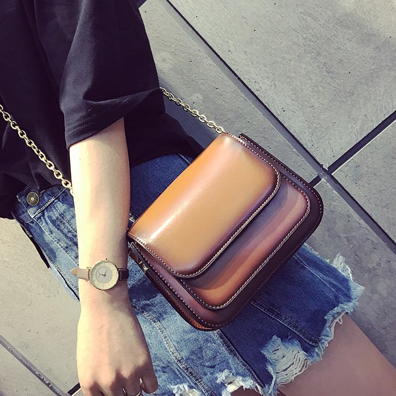 Tas selempang wanita Gaya Korea 2018 model baru netral Tas tali rantai modis Mini tas kecil Clutch musim gugur musim dingin item baru tas wanita - 2