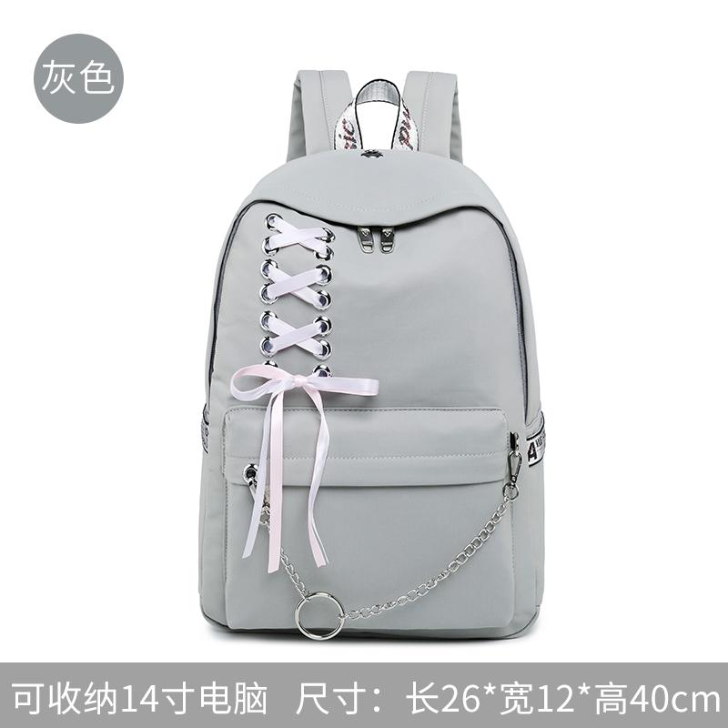 In Students School Bag Female Korean Style Harajuku High School Students Junior High School Students Backpack Female Simple College Student 2019 New Style