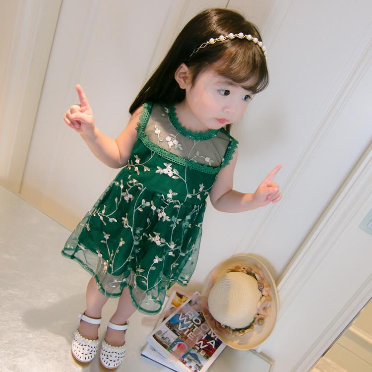 Bayi perempuan pakaian musim panas 2019 model baru Anak prempuan Putri gaun bayi pakaian anak-