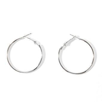 Pencari Harga Korea Selatan orang trendi model baru modis lingkaran anting-anting berlebihan minimalis suasana kepribadian Elegan Anting-anting anting ring ...